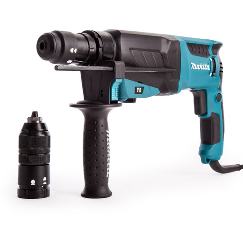 Makita HR2630T SDS+ 3 Mode Rotary Combination Hammer Drill with Keyless Quick Chuck 240V - 8