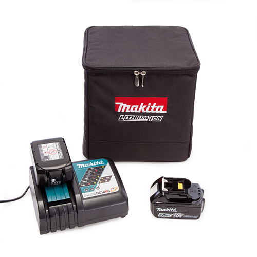 Makita PowerPack3 With 1 x 3.0Ah + 1 x 5.0Ah Batteries, Charger and Black Cube Bag