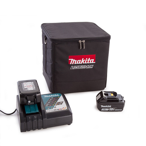 Makita PowerPack1 With 2 x 3.0Ah Batteries + Charger and Black Cube Bag - 4