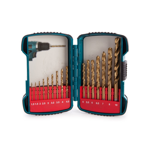 Makita P-51873 Straight Shank Titanium Plated HSS Drill Set (16 Piece) - 5
