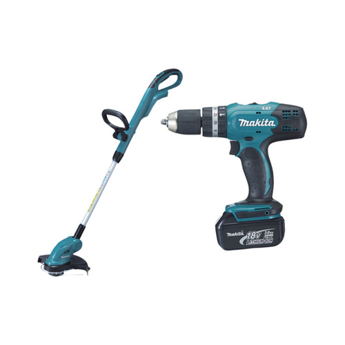 Buy Makita DLX2114S 18V Cordless 2 Piece Combo Kit, Combi Drill DHP453 + Line Trimmer DUR181Z (1 x 3.0AH li-ion) at Toolstop