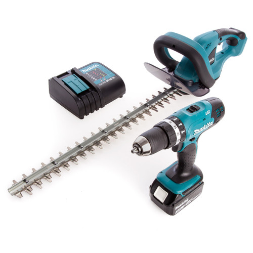 Makita DLX2113S Two Piece Combo Kit, Combi Drill DHP453Z + Hedge Trimmer DUH523Z (1 x 3.0AH li-ion) - 3