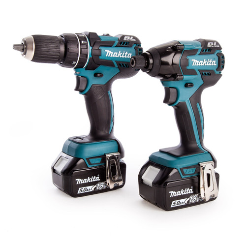 Makita DLX2002TJ 18V Cordless Li-ion 2 Piece Brushless Kit (2 x 5Ah Batteries) in Makpac Case - 4
