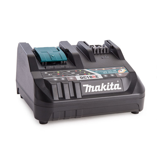 Makita DC18RE 18V Dual Port Battery Charger for LXT and CXT 10.8-18V - 2