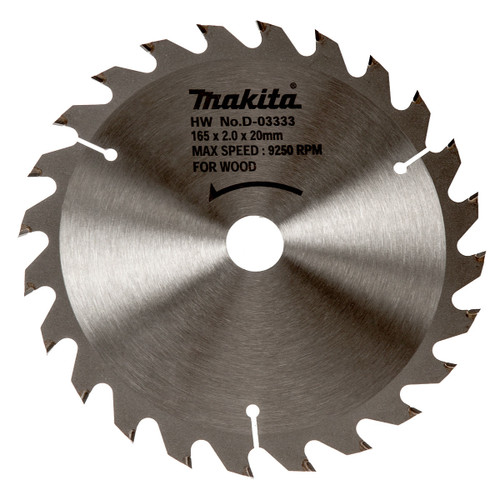 Makita D-03333 Circular Saw Blade 165mm x 20mm x 24T - 1
