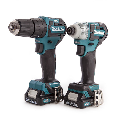 Makita CLX205AJ 10.8V CXT Twin Pack - HP322D Combi Drill + TD111D Impact Driver (2 x 2.0Ah Batteries) - 4
