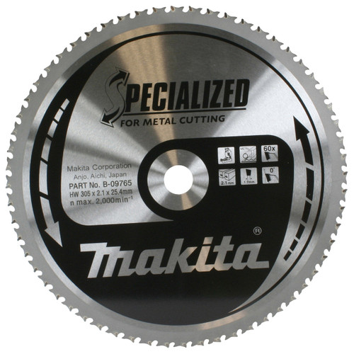 Buy Makita B-09765 TCT Metal Circular Saw Blade 305mm x 25.4mm x 60T at Toolstop
