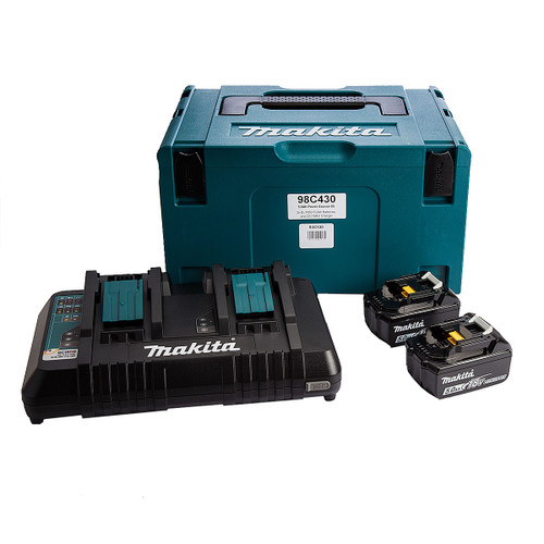 Makita 98C430 18V Power Source Kit (2 X 5.0AH li-ion Batteries, 1 x DC18RD Charger) in MakPac Carry Case - 3