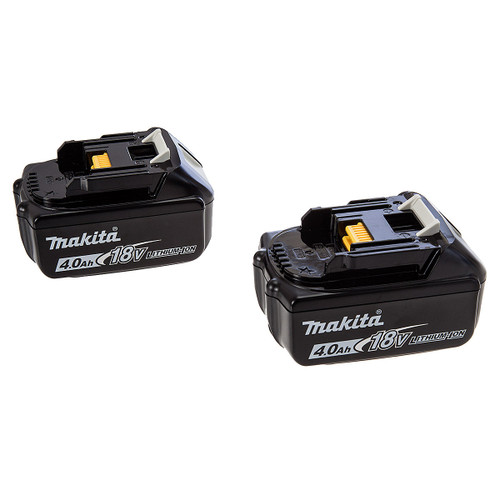 Makita BL1840 4Ah Batteries Twin Pack for 18V Lithium Ion Power Tools - 1