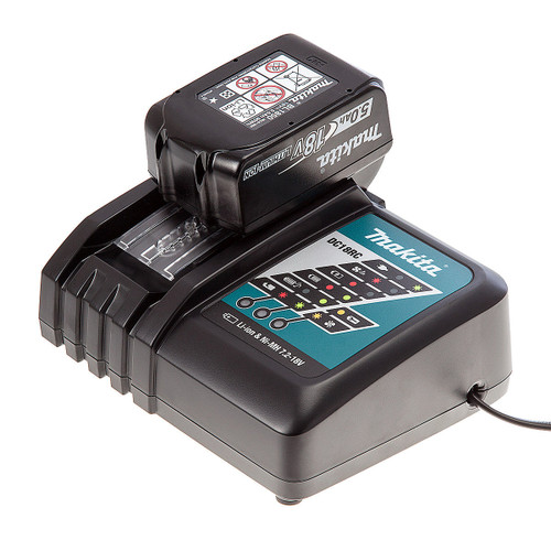 Makita DC18RC Charger + BL1850 5Ah Battery - 3