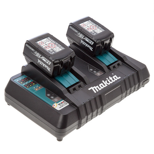 Makita DC18RD Twin Charger + 2 x BL1850 18V 5.0Ah Batteries - 3
