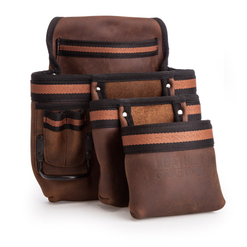 Leather Craft LC507 Single Pouch with 3 Large Pockets - 4