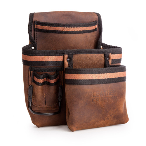 Leather Craft LC505 2 Pocket Tool Pouch with Speed Square Holder - 3
