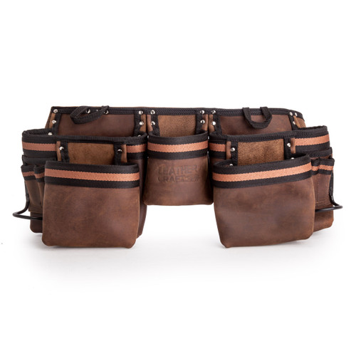 Leather Craft LC401 Double Tool Belt with 5 Large Pockets - 6