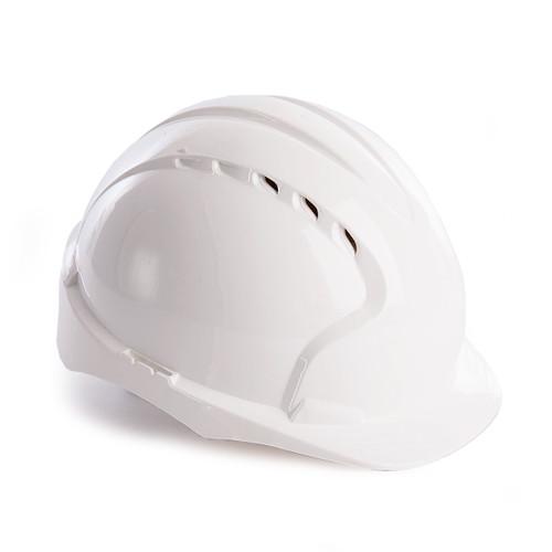 JSP AJF160-000-100 EVO3 Safety Helmet with Slip Ratchet - Vented - White - 1