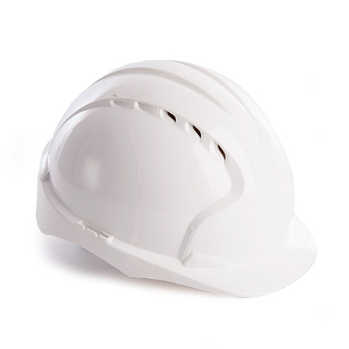 JSP AJF160-000-100 EVO3 Safety Helmet with Slip Ratchet - Vented - White - 1