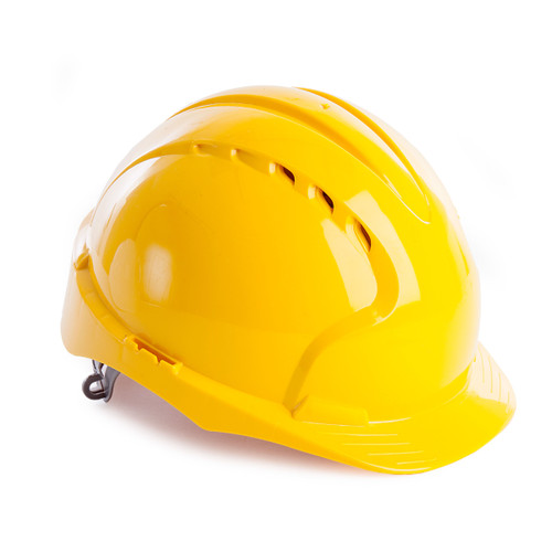 JSP AJF160-000-200 EVO3 Safety Helmet with Slip Ratchet - Vented - Yellow - 1