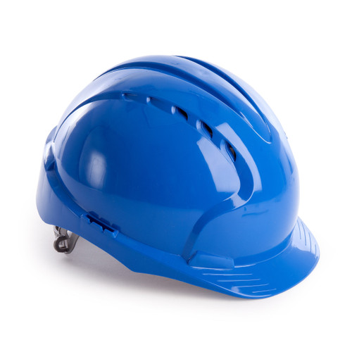 JSP AJF160-000-500 EVO3 Safety Helmet with Slip Ratchet - Vented - Blue - 1
