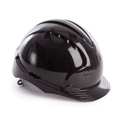 JSP AJF160-001-100 EVO3 Safety Helmet with Slip Ratchet - Vented - Black - 1