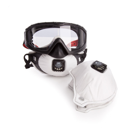 JSP AGE120-201-100 Filterspec Pro-Safety Goggle & Respirator Combination Unit - 1