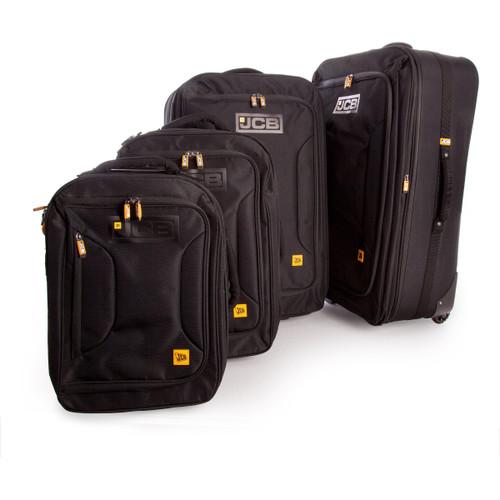 JCB 011PL - 4 Piece Nylon Weave Luggage Set in Black 32.5 - 48 - 79.5 - 111 Litre - 5