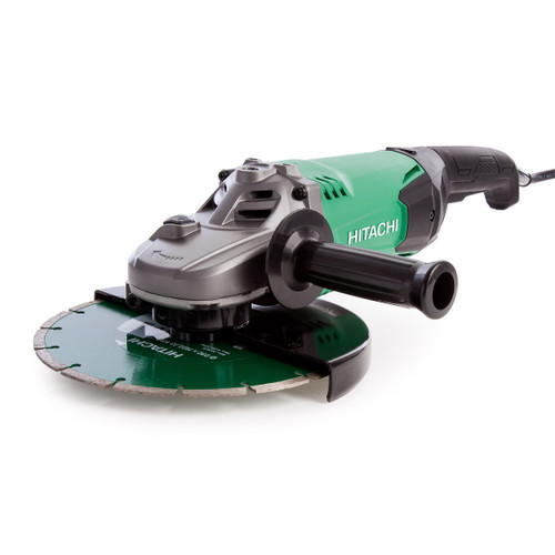 Hitachi G23ST Grinder with Diamond Blade and Carry Case 230mm / 9 Inch 110V - 3