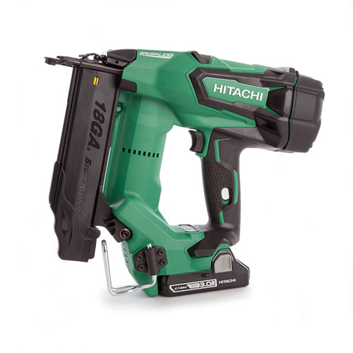 Hitachi NT1850CBSL/JX 18 Volt 18 Gauge Straight Brad Brushless Nailer (2 x 3Ah Batteries) - 3