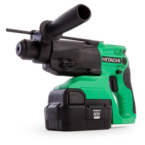 Hitachi DH24DVC 24V 4kg SDS Plus Hammer Drill (2 x 2.0Ah NiMH Batteries) - 6