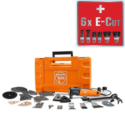 Buy Fein FMM250Q Multimaster Top Kit with 59 Accessories 240V (+Extra 6 Blades) at Toolstop