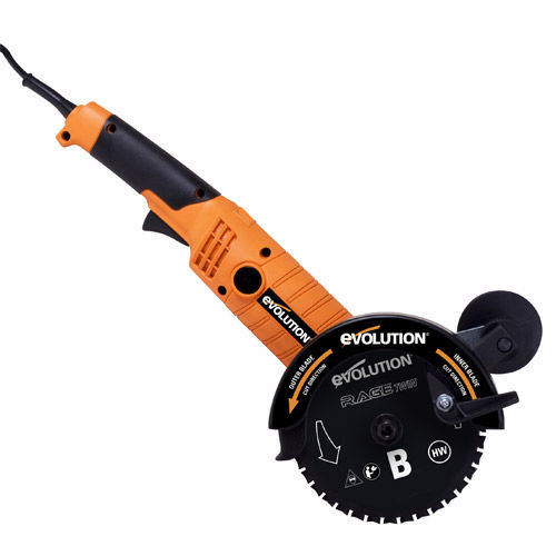 """Buy Evolution RAGETWIN155 155mm 6"""" TCT Multipurpose Twin Blade Saw 240V at Toolstop"""