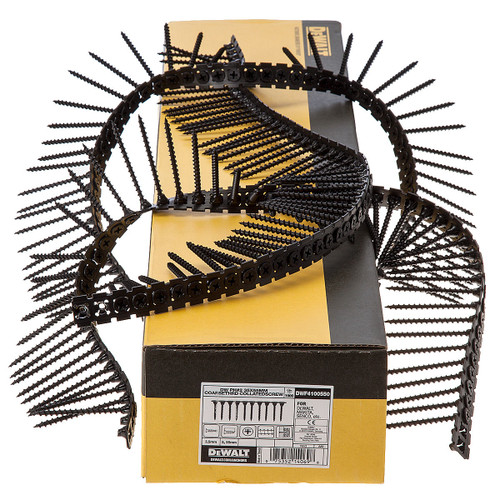 Buy Dewalt DWF4100550 Plastic Collated Drywall Screws Coarse Thread 55mm x 3.5mm (1000 in Box) at Toolstop