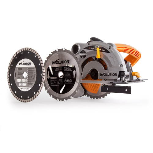 Evolution Rage-B 185mm TCT Multipurpose Circular Saw 110V with 3 Blades - 4