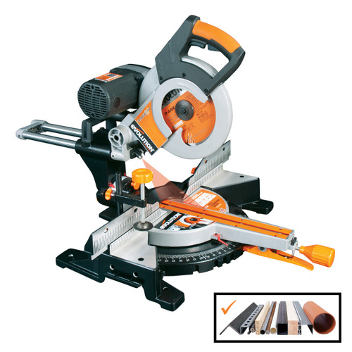 Evolution RAGE3-DB TCT Multipurpose Double Bevel Sliding Mitre Saw 255mm / 10 Inch 110V - 7