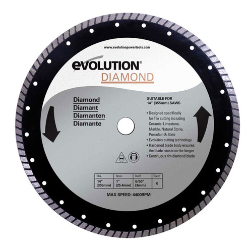 Buy Evolution DB355 Rage 2 Diamond Cutting Blade 355mm at Toolstop