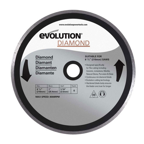 Buy Evolution DB210 Rage 3S Diamond Cutting Blade 210mm at Toolstop