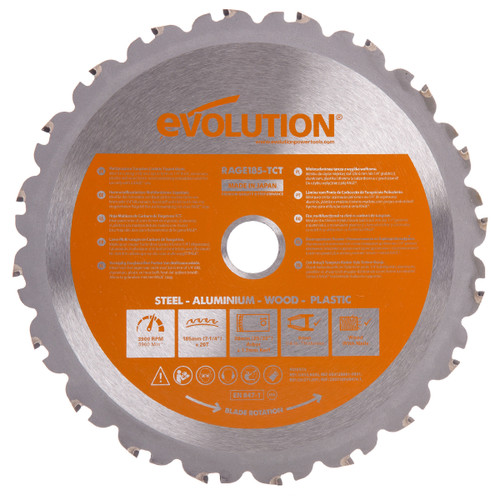 Evolution B185 Cutting TCT Blade 185mm - 2