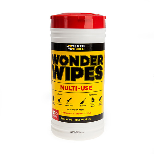 Everbuild WIPE80 Wonder Wipes Trade Tub 100 Wipes