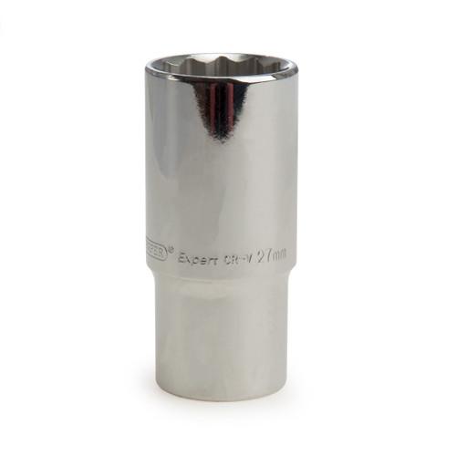 Buy Draper 83937 (HT-MMB) Expert 27mm 1/2in Square Drive Hi-Torq 12 Point Deep Socket at Toolstop