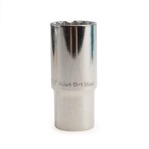 Buy Draper 76495 (HT-MMB) Expert 26mm 1/2in Square Drive Hi-Torq 12 Point Deep Socket at Toolstop