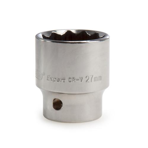 Buy Draper 11888 (H-MMB) Expert 27mm 1/2in Square Drive Hi-Torq 12 Point Socket at Toolstop