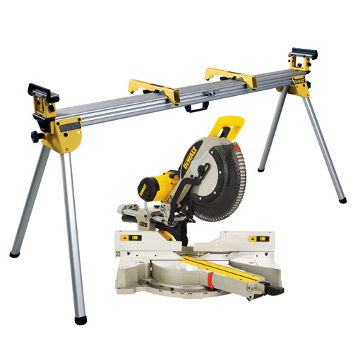 Buy Dewalt DWS780 305mm XPS Compound Slide Mitre Saw 110V + DE7023 Legstand at Toolstop