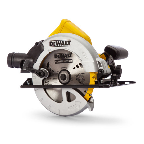 Dewalt DWE560K Compact Circular Saw 184mm in Kitbox (65mm Depth Of Cut) 110V - 6