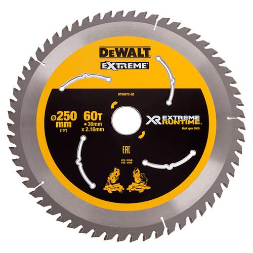 Dewalt DT99573 Xtreme Runtime Saw Blade 250mm x 30mm x 60T - 2