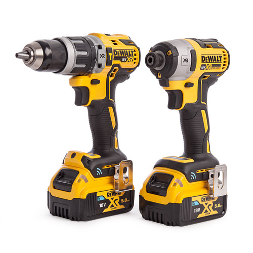 Dewalt DCK2500P2B 18V XR Tool Connect Twin Pack - DCD797 Combi Drill + DCF888 Impact Driver (2 x 5.0Ah Batteries) - 4