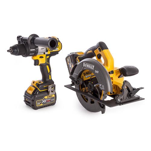 Dewalt DCK2056T2T 18/54V Twin Pack - DCD996 18V Hammer Drill Driver + DCS575 54V Flexvolt Circular Saw (2 x 6.0Ah Batteries) - 4