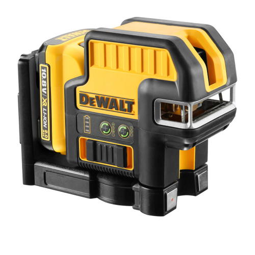 Dewalt DCE0825D1G 10.8V 5 Spot Cross Line Green Laser (1 x 2.0Ah Battery) - 2