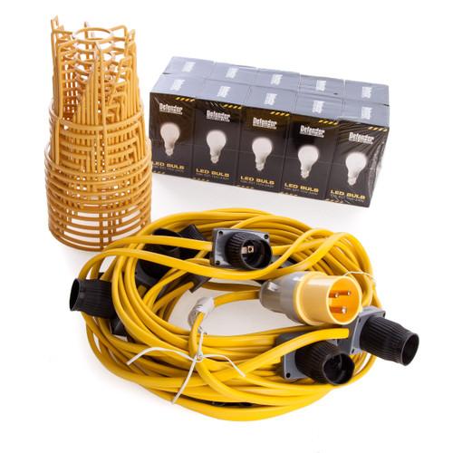 Defender E89811 LED ES Festoon Kit 22 Metres 110V - 3