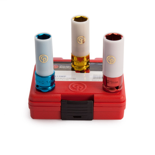 Chicago Pneumatic SS413WP 1/2in Drive Thin Wall Wheel Protector Socket Set (17,19,21mm) - 2