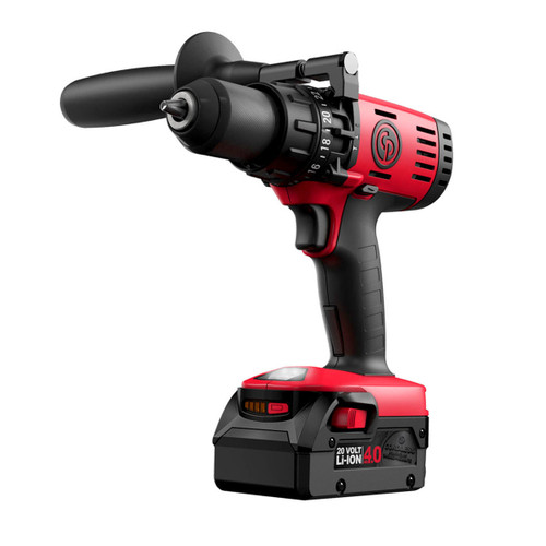 Chicago Pneumatic CP8548-Pack Hammer Drill Driver 20V Cordless 1/2 Inch (2 x 4.0Ah Batteries) - 5