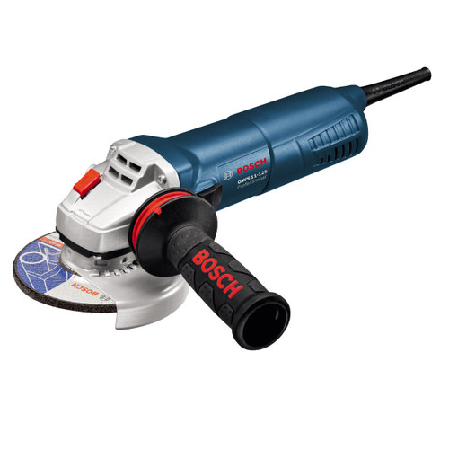 """Buy Bosch GWS11-125AVH - 5"""" / 125mm Angle Grinder with Slim Grip and Anti-Vibration Side Handle 240V at Toolstop"""